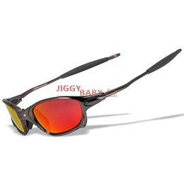 SunglaSSeS iridium online shopping - Top X Metal Juliet xx Sunglasses Driving Sports Riding Polarized UV400 High quality Sun Glasses Men Women Iridium Mirror Ruby Red ice blue
