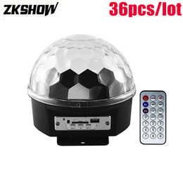 magic ball disco NZ - 80% Off 6*1W RGBYWP LED Magic Ball MP3 Player Bluetooth Remote Control DJ Disco Family Party Light Stage Lighting Effect Luces Discoteca