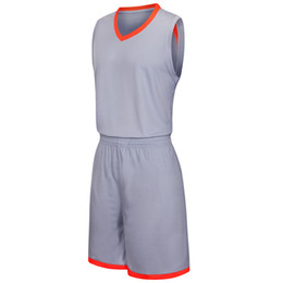 basketball jersey green sleeveless UK - 2019 New Blank Basketball jerseys printed logo Mens size S-XXL cheap price fast shipping good quality Grey G003