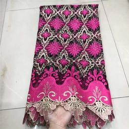 $enCountryForm.capitalKeyWord Australia - Flower Embroidery African Lace Fabric Design Guipure Net Lace Fabric Rhinestones Nigerian Lace Fabric For Wedding dress XRE05