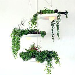 Modern Pots For Plants Australia - Creative Plant Pendant Light Modern Suspension AC 90-260V Flower Potted Plant Light For Living Room Dinning Room Bedroom B092