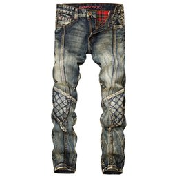 $enCountryForm.capitalKeyWord UK - Fashion Retro Straight Denim Jeans Men Casual Men Long Pants Trousers Biker Jean Plus Size 29-38