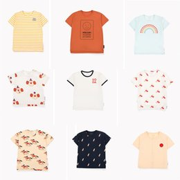 Cartoon Big Boys Australia - Tc 2019 Zmhyaoke Summer T-shirt For Girls New Arrival Pre-sale Rainbow Cartoon Print Boy T-shirt Girls Tops Clothes For Big Kids Y19051003