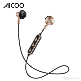 Neckband Stereo Bluetooth Earphones Australia - AICOO S1B Wireless Bluetooth 4.2 Earphones In Ear Neckband Universal Bilateral Stereo Sport Headset for Samsung iPhone Retail Package