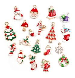 $enCountryForm.capitalKeyWord Australia - Free Shipping! New hot sale Christmas Wholesale lots 19Pcs XSilver-tone Mix Unique Enamel Christmas Charms Pendants