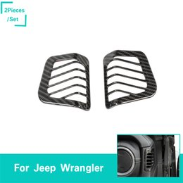 fiber vented 2019 - Dashboard Side Vent Decorative Bows Carbon Fiber For Jeep Wrangler JL 2018 Factory Outlet High Quatlity Auto Internal Ac