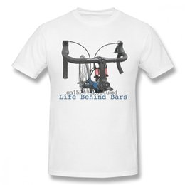 life size pictures Australia - Round Collar Picture Custom Bike Cycling A Life Behind Bars T-shirt For Man Tee Plus Size Homme T-shirt Cool Design
