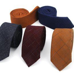 4931ba55fd65 Men Tie Wool Luxury Plaid Fashion Slim Ties Classical Brand Comfortable Mens  Wedding Dress Party Business Quality Shirts Necktie