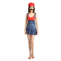 Discount mario costumes women - Super Mario Bros Female Cosplay Women Costume 507 Mario Dress Cosplay Halloween Christmas Party Role Play