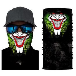 skeleton scarf mask UK - 36 Styles Skull Masks Skeleton Magic Bicycle Ski Skull Half Face Mask Ghost Scarf Neck 50*25cm Cycling Mask Festival Supplies ZZA1328