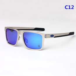 Wholesale EU AM big rim sporty polarized sunglasses O4123 outside cycling glasses revo mirror lens quality alloy frame silicone Gel temple outlet
