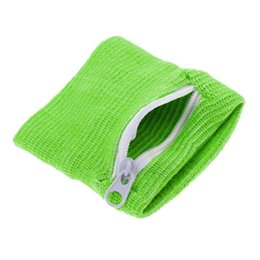 Sports Wrist Pouch UK - Sports Arm Band Bag For MP3 Key Card Storage Bag Case Badminton Basketball Zipper Wrist Wallet Pouch Running Wristband Sweatband #294458
