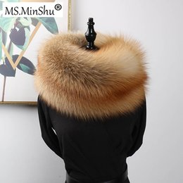 $enCountryForm.capitalKeyWord NZ - wholesale Luxury Genuine Fox Fur Scarf Real Fox Skin Scarf Big Size Natural Fox Fur Shawl Winter Women Stole Drop shipping