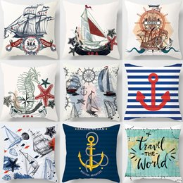 $enCountryForm.capitalKeyWord NZ - Sailing Boat Travel the Wold Sea Horsre Cushion Covers World Map Retro Style Pillow Cases 44X44cm Sofa Chair Decoration