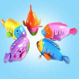 $enCountryForm.capitalKeyWord Australia - New Born Babies Swim Baby Kids Children Bath Wind Up Toy Moving Plastic Cute Swimming Colorful Fish Pet Classic Toys Gift
