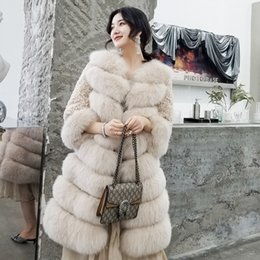 Fox Fur Skins NZ - Cool 2019 Finland Imported Eight Section The Whole Skin Fox Grass Loose Coat Woman Go Show Up Wool Leather And Fur Long Fund Overcoat