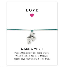 $enCountryForm.capitalKeyWord UK - Wish Bracelet With Gift Card Dog Paw Love Unicorn Teacher Charms Bracelets Bangles Women men Friendship Statement Jewelry Greeting Cards