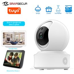 network camera android UK - Smart Home Security System Graffiti Smart Wireless Network 360 Degree Motion Detection Tuya Wifi Camera