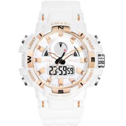$enCountryForm.capitalKeyWord Australia - DHL Wholesale SMAEL Mens Watches White Sport Watch Children's LED Digital Quartz Casual Clock Boy & girl Dual Display Wristwatch 1557B