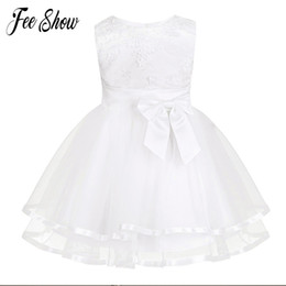 christening clothes for girls UK - New Baby Dress With Panties White Embroidery Lace Baby Girl Christening Gowns 1 Year Birthday Dress Baby Girls Clothes For 3-24m Y19061001