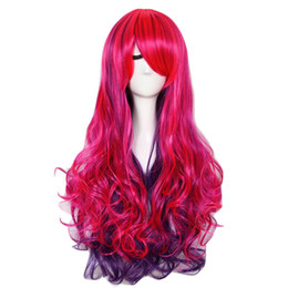 $enCountryForm.capitalKeyWord UK - Pink Purple Mixed Fashion Synthetic Women Long Curly Hairstyle Hair Wig Cosplay
