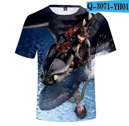 Grils Shirts Australia - childen How to Train Your Dragon 3D Printed T-shirts boys grils Fashion Summer Short Sleeve T shirts Hot Sale Streetwear Clothes