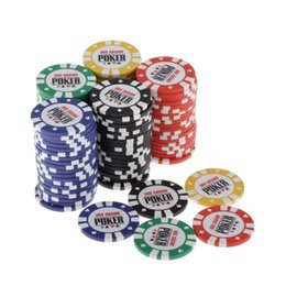 card games accessories UK - 100Pcs Texas Holdem Poker Chip Sets Casino Entertainment Accessories for Cards Game Prop