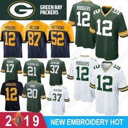 bce090b893 12 Aaron Rodgers Green Bays Jerseys Packers 23 Jaire Alexander 80 Jimmy  Graham 37 Jackson 4 Brett Favre 52 Clay Matthews 17 Davante Adams
