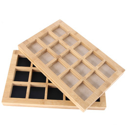 $enCountryForm.capitalKeyWord NZ - Natural bamboo wood jewelry display stand ring earrings beaded beads pendant jewelry storage tray brooch trinkets holder tray