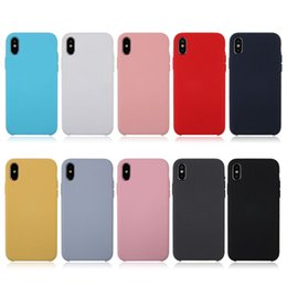 cheap iphone backs NZ - Silicone Phone Case Cover For Apple iPhoneX iPhone 8 7 Plus 6 6s Cheap Cell Phone Cases Back Covers Solid Color High Quality