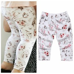 infant solid color tights NZ - Infant floral legging pants new design animal printed trousers hot sale baby girl bunny long pants