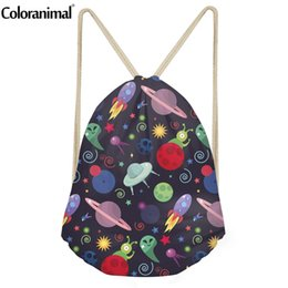 Large drawstring backpack online shopping - Coloranimal Gym Sack for Male Multifunction Drawstring Bag D Space Planet Print Teenager Boy Large Softback Backpack Cinch Sack