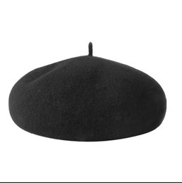 Wholesale Hat Female Winter Wool Beret Female British Autumn Winter Korean Edition Japanese Knitting Painter Hat Pumpkin Hat Female