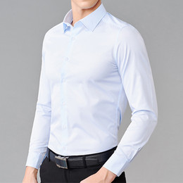 Business Casual Polo Australia - Fashion classic solid color men's shirt wedding groom best man shirt men's single-breasted quality business casual shirt