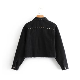 dress epaulets Australia - D6bb10-8530 2018 Autumn New Style Casual WOMEN'S Dress Industrial Rivet Decoration Cowboy Jacket