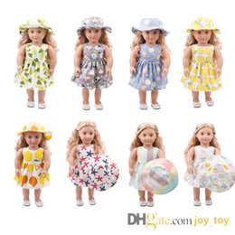 Dresses Apparel Australia - 9 Styles 18 inch Doll One Piece Dress with Hat for 18 inch Doll Cloth Apparel