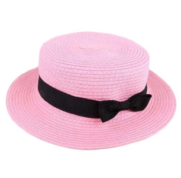 da47eb431b5 Man Women Straw Hat Summer Beach Hats Children And Adult Size Flat Top  Straw Hat Men Boater Hats Flat Bowler Hat