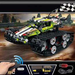 technic blocks Australia - Technic Series The RC Track Remote-control Race Car Set Building Blocks Bricks Educational Toys Gifts Compatible 42065 SH190907