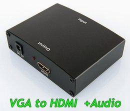 Hd Audio Pc Australia - 1080p VGA to HDMI adapter Vga To Hdmi with audio Hd Hdtv Video Converter Box Adapter for Pc Laptop Dvd