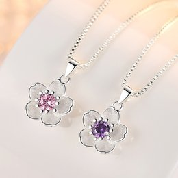 $enCountryForm.capitalKeyWord Australia - Wholesale Women's Fresh rose handmade cherry blossom lovely peach pendant female silver plated pendant (Do not contain the chain)