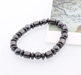 HealtH bangles online shopping - Health Care Bracelet Anti Fatigue Bangle Magnet Elastic Force Beads Party Small Gifts Black Portable Flexible MMA1841