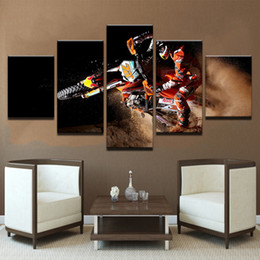racing cooler Canada - 5 Pcs Combinations HD Cool Fantasy Fired Racing Bicycle Bike Unframed Canvas Painting Wall Decoration Printed Oil Painting poster