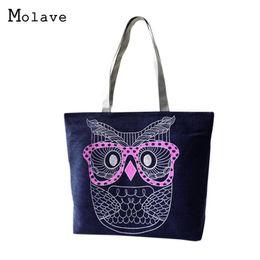 $enCountryForm.capitalKeyWord Australia - Cheap Fashion Ocardian Bolsas Hot Fashion Lady Owl Shopping Handbag Shoulder Canvas Bag Tote Purse Bolsa 17Mar06 Dropshipping