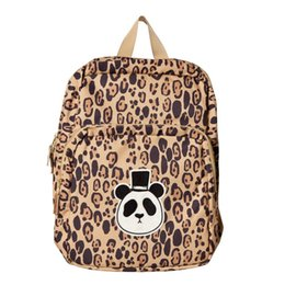 Canvas Prints Children Australia - Cute Children Canvas Schoolbags Leopard Printing Cartoon Backpacks Brand Design Teenager Travel Bag Small Mini Shoulder BackpackHFDJMDFHM