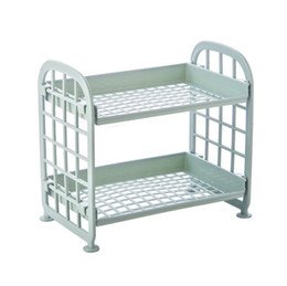 $enCountryForm.capitalKeyWord UK - 2 Tier Plastic Bathroom Shower caddy Corner Rack Kitchen Shelf Organiser