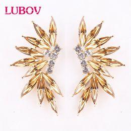 $enCountryForm.capitalKeyWord Australia - LUBOV 2 styles colorful Wings Stud Earrings Acrylic Crystal Stone Women Piercing Earrings Trendy Wedding Jewelry Christmas Gift