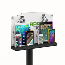 Wholesale Wall Mounted Cell Phone Charging Station Port Cables Tower Floor Stand Universal Charging dock For iPhone Samsung Android Tablets