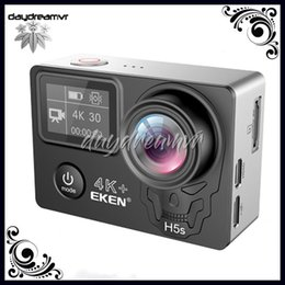 touchscreen hdmi UK - Original EKEN H5S plus EIS Native 4K Ultra HD touch screen Action Sports Camera WIFI HDMI 170 Wide Angle remote control waterproof DV