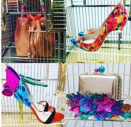$enCountryForm.capitalKeyWord Australia - Hot Sale-wedding heels women colorful butterfly wings sandals ankle strap high heels open toe stilettos patchwork sandals summer heels
