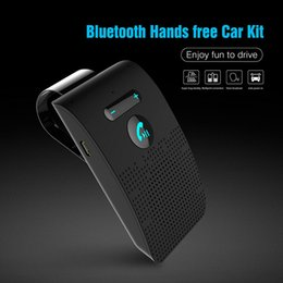 multipoint bluetooth car kit Australia - Bluetooth Car Handsfree Kit Wireless Bluetooth Speakerphone Sun Visor Car MP3 Music Player Multipoint Noise Cancelling
